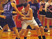 Hannah Gould ripping the ball away