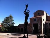 Statue near UMC at CU Boulder